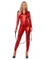 Preview: Sexy rotes Catsuit Kostüm