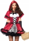 Preview: Leg Avenue 85230 Rotkäppchen Kostüm Gothic Red Riding Hood