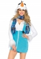Preview: Süßer Schneemann Hoodie Dress l Leg Avenue 85524