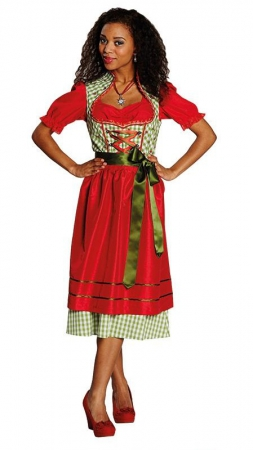 oktoberfest dirndl rot gr n mit schleife. Black Bedroom Furniture Sets. Home Design Ideas