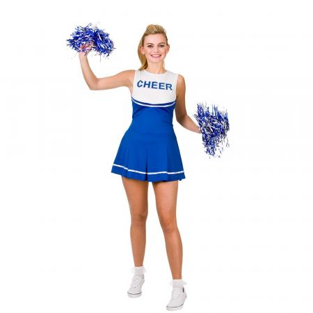 Heather High School Cheerleader Kostüm blau