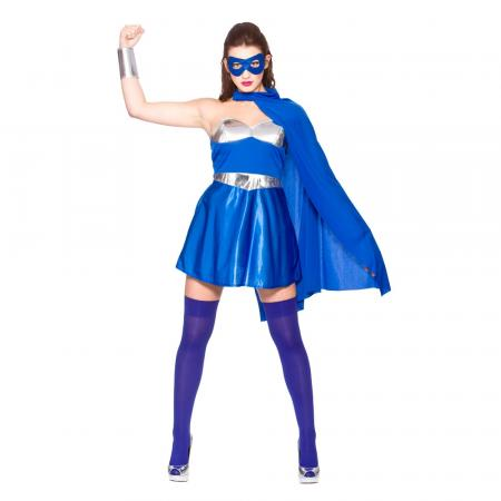 Superheldin in Blau