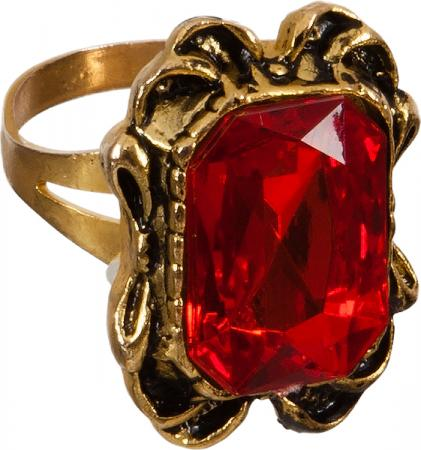 Ring mit rotem Rubin Stein in Gold