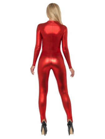 Sexy rotes Catsuit Kostüm