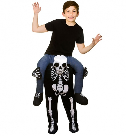Carry Me Kinder Skelett Skeleton Huckepack Kostüm