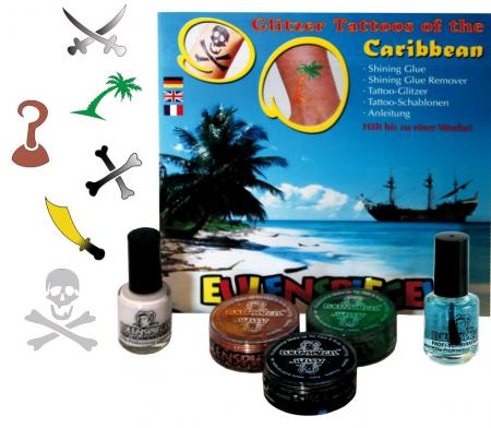 Glitzer Tattoo Set Tattoos of the Caribbean