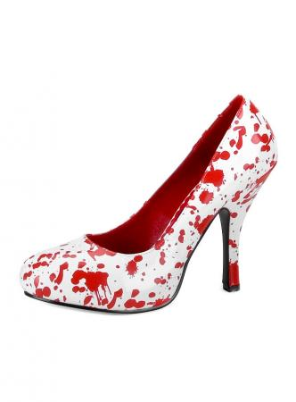 Bloody Mary Zombie Blutspritzer Schuhe Bloody Mary Weiss-Rot