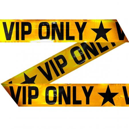 VIP Only Absperrband Goldfolie 15 m lang