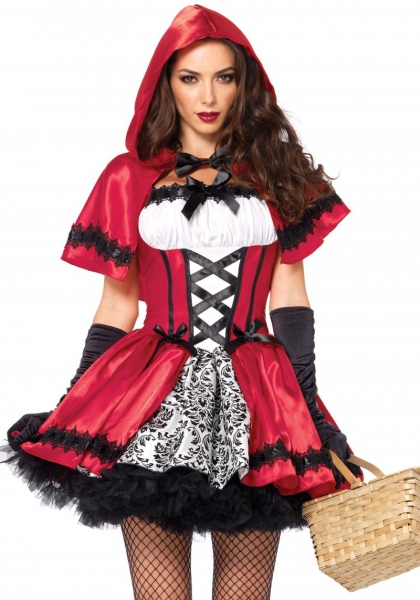 Leg Avenue 85230 Rotkäppchen Kostüm Gothic Red Riding Hood