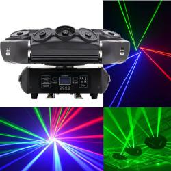 Laser Moving Head mit 8 Laser RGB B-Stock