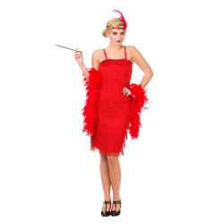 20's Nancy Flapper Lady Kostüm rot