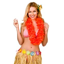Hawai Waikiki Blütenkette Petal Lei extra Dick 11,5 cm in Neon Orange