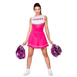 Katie High School Cheerleader Kostüm pink