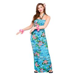 Hawaii Kleid lang mit Orchideen