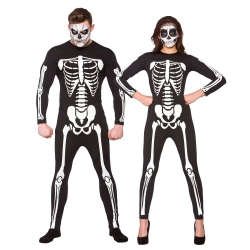 Unisex Skeleton Jumpsuit Skelett Overall