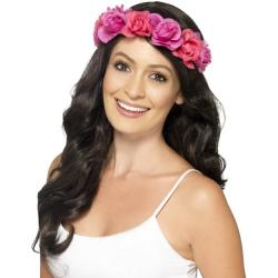 Blumiges Hawai Haarband rosa