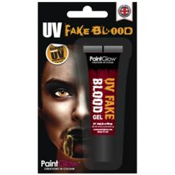 PaintGlow UV Fake Blut Gel 10ml Orange