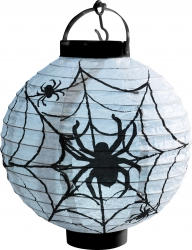 Leuchtender Halloween Spinnennetz Lampion mit LED