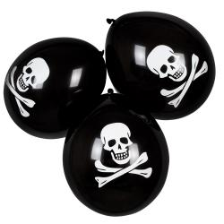 6 Piraten Party Totenkopf Ballons 25cm