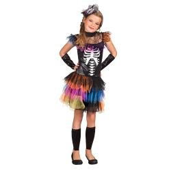 Skelett Princess Halloween Kinderkostüm