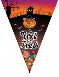 Wimpelkette Folie Trick or Treat 5 meter mit 10 Wimpel