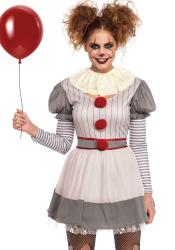 Es Horror Clown Kostüm für Damen Deluxe