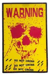 "Warnschild ""Warning"" 38x24,5cm aus PVC"
