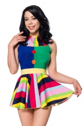 farbenfrohes Kleid Clownskleid