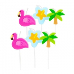 "Mini-Figurenkerzen Hawai ""Tropical Party"" 6er Pack"