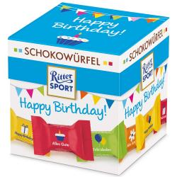 Ritter Sport Schokowürfel Happy Birthday 22er