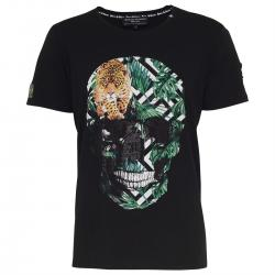 Roberto Geissini T-SHIRT SKULL JUNGLE schwarz Unisex